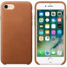 Genuine Leather Hard Back Case Protective Slim Cover for iPhone 7 Brown