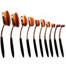 Oval Makeup Brush Umbrella Tooothbrsuh 10pcs Cosmetics Brushes Set