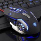 3200DPI Game Machine Wired Mouse Silent Gaming Mouse for Computer Black