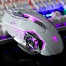 3200DPI Game Machine Wired Mouse Silent Gaming Mouse for Computer white