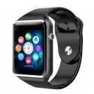 A1 Smartwatch Phone Camera Sound Recorder Alarm Pedometer FM Sleep Monitor Watch black