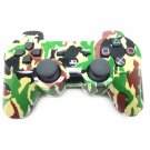 Bluetooth Wireless Controller for PS3 Double Shock Green Camouflage