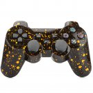 Bluetooth Wireless Controller for PS3 Double Shock Snowflake Yellow