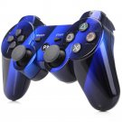 Bluetooth Wireless Controller for PS3 Double Shock Blue Gradient