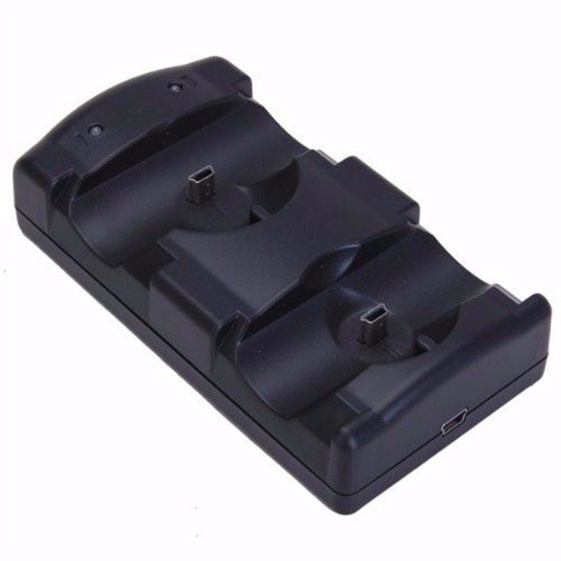 Dual Charger Usb Cable Charging Dock For Ps3 Controller Move