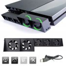 USB External 5-Fan Super Turbo Temperature Cooling Fan with USB Cable for PS4 Console