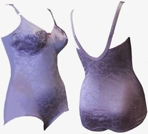 Crownette Shaper Body Briefer Bodysuit 36 C Lavender Purple