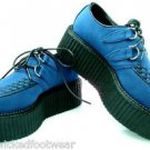 "Creeper 402S Blue Suede Oxford 2"" Platform Storage Coffin Men Sizes 7-12"