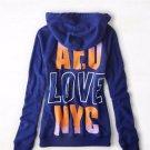 AMERICAN EAGLE AE Blue NYC Back Graphic Hoodie Sweatshirt