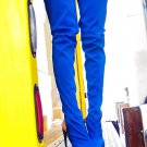 Privileged Asia Stretch Thigh High Closed Toe Open Heel Boot  7-11 Bright Blue