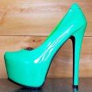 Privileged Catherine Green Patent Platform Pump High Heel Shoe Deep Tread 6.5 10