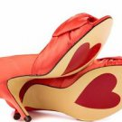 Luichiny Best One Yet Marigold Orange Open Toe Satin  Pump Shoe 7 - 11