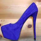 "Luichiny Me Chelle Electric Purple  Platform Pump 6"" Heel Sizes 7-10"