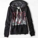 AMERICAN EAGLE AE Black NYC Pink Graphic Hoodie Sweatshirt Large