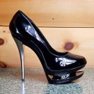 Previously Sold Blondie 685 Black Patent Dual Platform High Heel Shoe Size 9