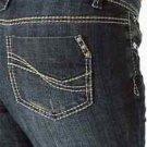 Revolt Medium Blue Skinny Stretch Stud Pocket Jean 7 x  32 Jeans