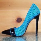 RK Mesh Madness Pointy Toe Pump Electric Blue High Heel Pump Shoe Sizes 6 6.5 8