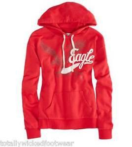 AMERICAN EAGLE AE Optimistic Pink Graphic Popover Hoodie Sweatshirt L XL