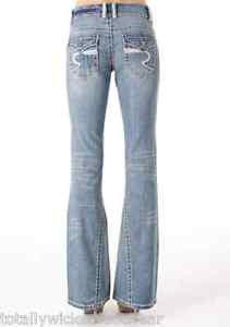 Revolt Heavy Stitch Twisted Flare Jean Light Wash 5 x  37 Tall Flap Pocket Long
