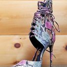 "Giovanni Multi Snake Strappy Lace Up Pointy Toe Sandal 4.5"" High Heel Shoe 6-11"