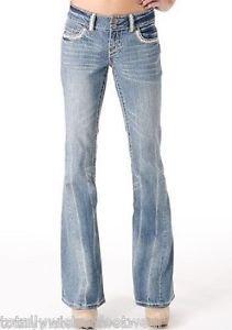 Revolt Heavy Stitch Twisted Flare Jean Light Wash 1 x  32 Tall Flap Pocket Long