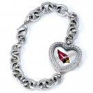 Arizona Cardinals Heart Bracelet Watch