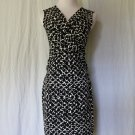 Ann Taylor NEW Black & White Sleeveless Jersey Mock Wrap Dress XS BRAND NEW
