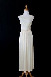 Vintage SYLVIA PEDLAR Iris Ivory Silk Charmeuse & Lace Tea Length Gown  32 S