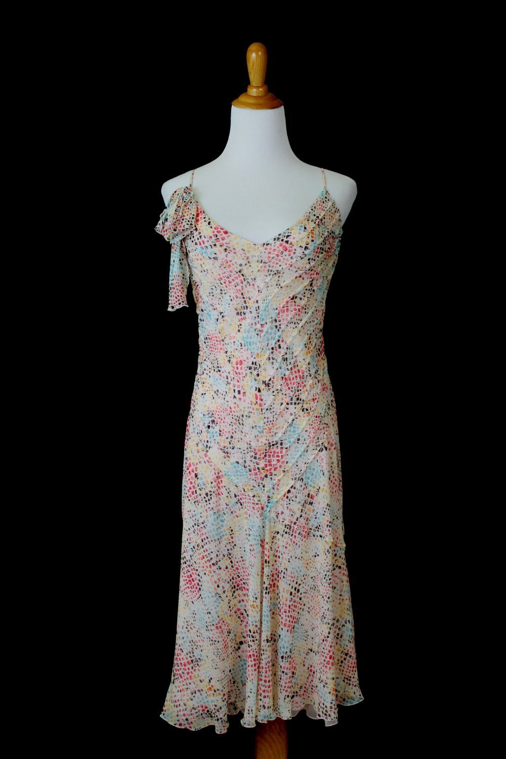 Sonia Rykiel Ethereal 1920's Gatsby Inspired Summer Silk Dress France 36 USA 4 6