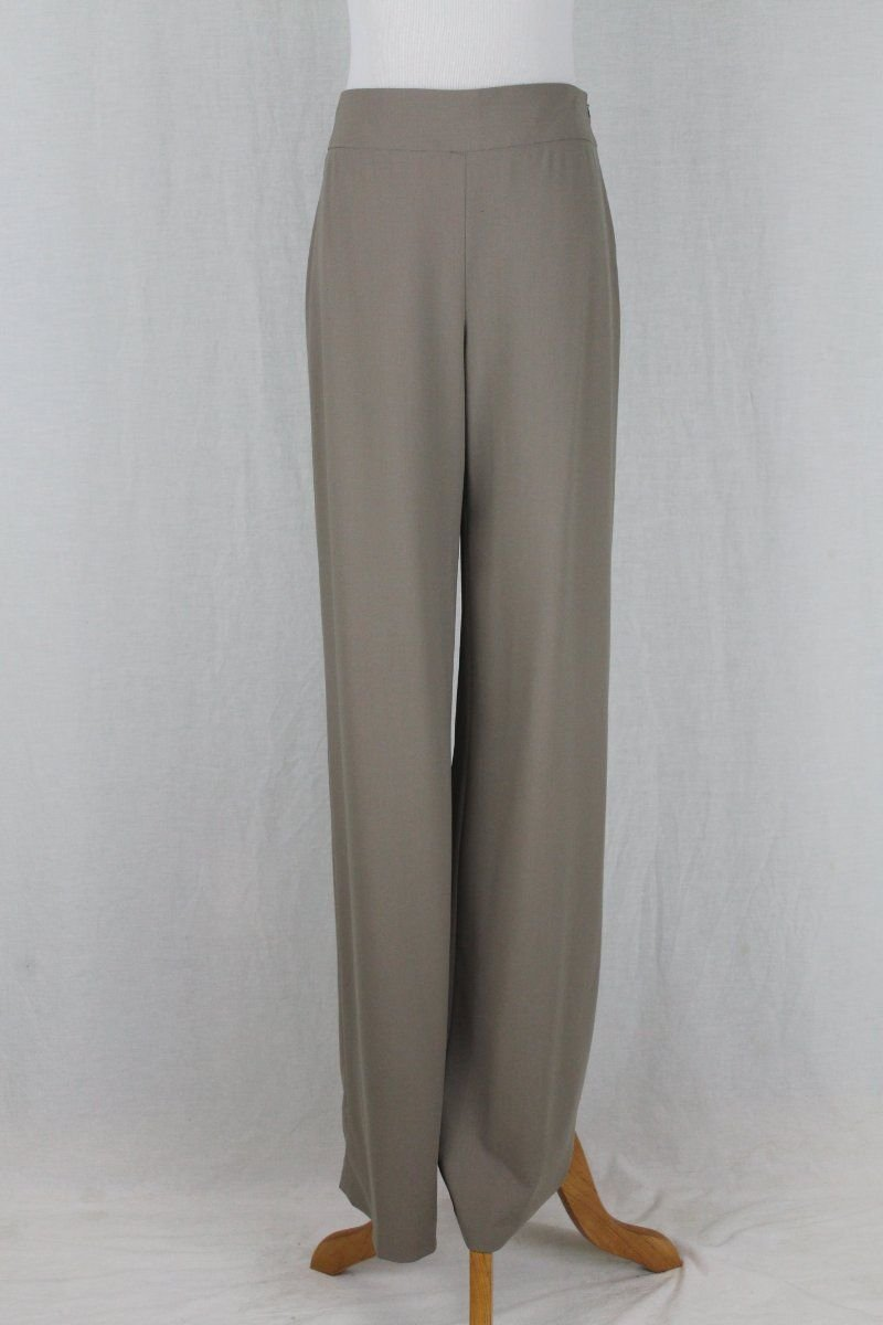Giorgio Armani Black Label Wide Leg Side Zip Virgin Wool Trousers Pants 40 4
