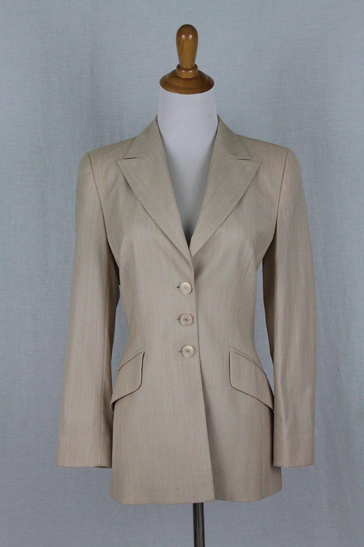 ESCADA Light Beige Wool blazer USA Size 2 NEW