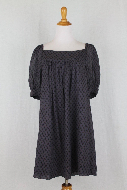 By Malene Birger Denmark Purple & Black Equestrian Print Trapeze Dress NWT 38