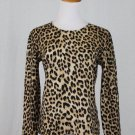 MAGDA BUTRYM Leopard Printed Merino Wool Sweater Made in Italy Beige S 42 6