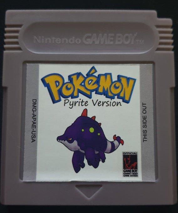 Retro Cartridge Game Boy Card Pokemon Pyrite For GBC Console