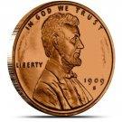 US Coin 1 oz Copper Round - 1909 S VDB Lincoln Wheat Cent