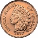 US Coin 1 oz Copper Round - 1877 Indian Head