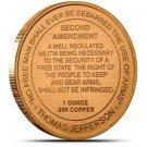 US Coin 1 oz Copper Round - 2nd Amendment