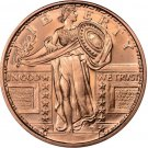 US Coin 1 oz Copper Round - Standing Liberty