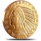 US Coin 1 oz Copper Round - Incuse Indian