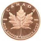 Coin 1 oz Copper Round - Maple Leaf