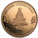 Coin 1 oz Copper Round - Merry Christmas
