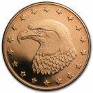 Coin 1 oz Copper Round - Eagle Head