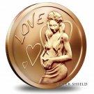 Coin 1 oz Copper Round - Love