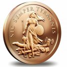 Coin 1 oz Copper Round - Sic Semper Tyrannis
