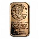 Coin Set 20 Pcs - 1 oz Copper Bars Walking Liberty