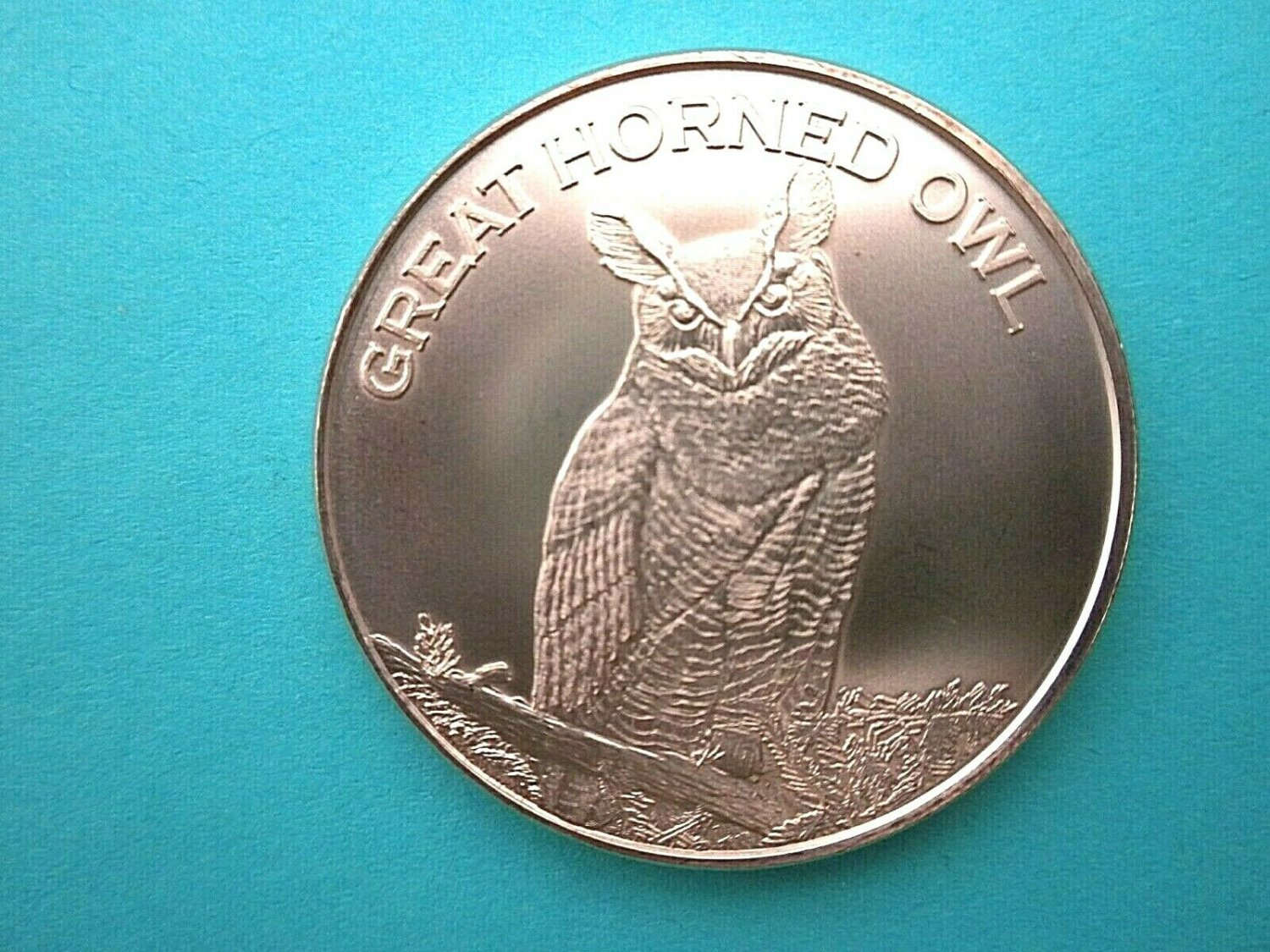 New Great Horned Owl 1 Oz Copper Round Coin