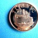 Titanic April 15 1912 1 oz Copper Round Coin