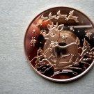 Christmas Coin Rudolf Red Nose Rain Dear 1 oz Copper Round