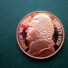 Jefferson Nickel 1 Oz Copper Round Coin