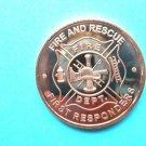 Coin Fire Department - Fire & Rescue 1oz Copper Round